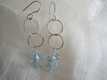 Load image into Gallery viewer, Simon & LuLu Sterling Silver Blue Topaz Earrings