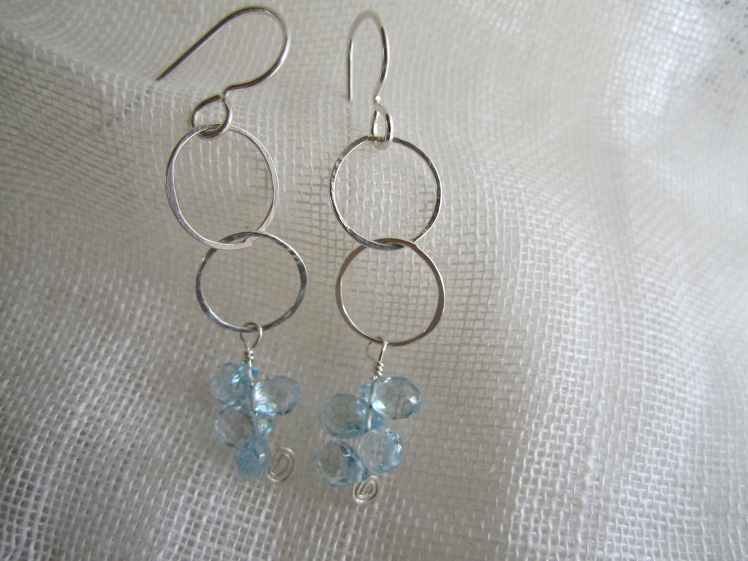Simon & LuLu Sterling Silver Blue Topaz Earrings