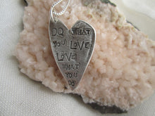 "Load image into Gallery viewer, Simon & LuLu ""Do What You Love"" Silver Necklace"