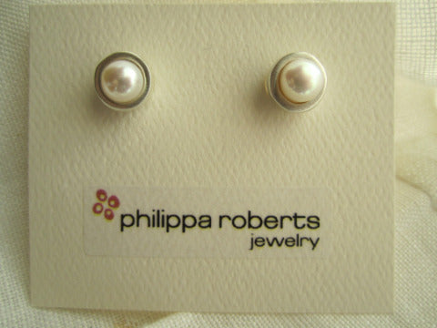 Philippa Roberts Pearl Sterling Earrings