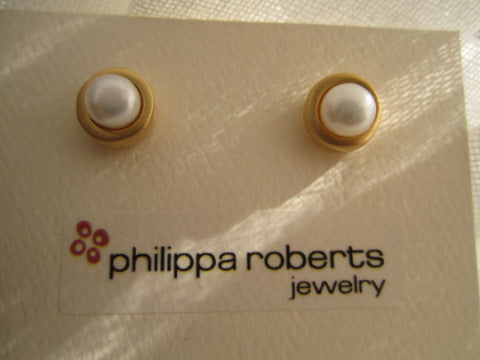 Philippa Roberts Pearl Vermeil Earrings