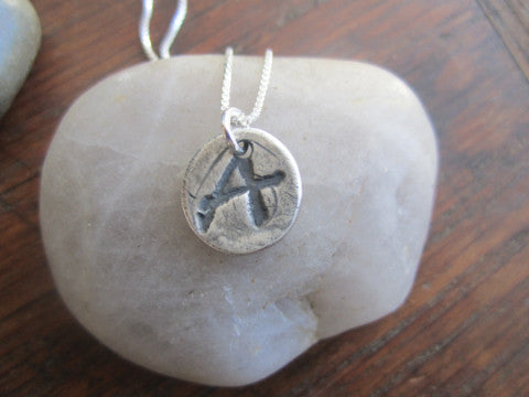 Simon & LuLu  Pure Silver Initial Necklace