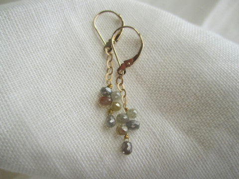 Simon & LuLu 14K gold diamond leverbacks