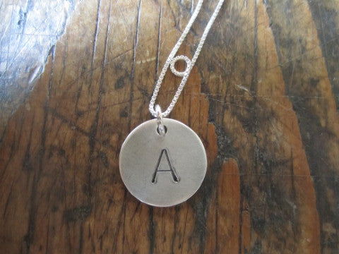 Simon & LuLu Sterling Initial Charm Necklace