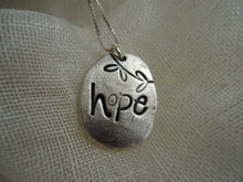 "Load image into Gallery viewer, Simon & LuLu ""Hope"" Silver Necklace"