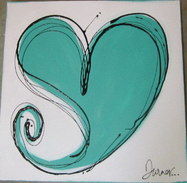Turner White/Turquoise Heart