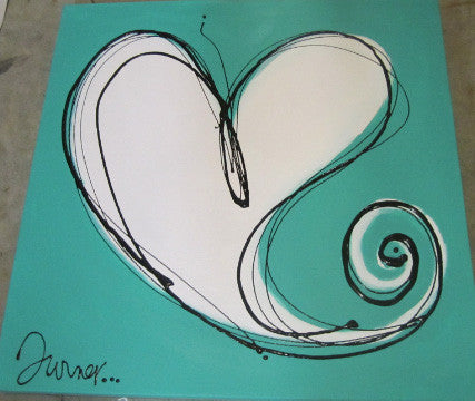 Turner Turquoise/White Heart