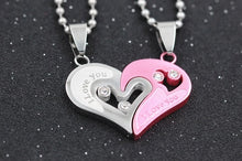 Load image into Gallery viewer, I Love You Paired Pendant Necklace