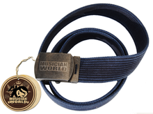 Rope belt with MW buckle - Blu