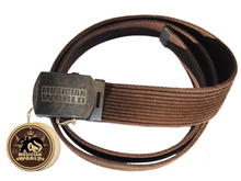 Rope belt with MW buckle - Dark brown
