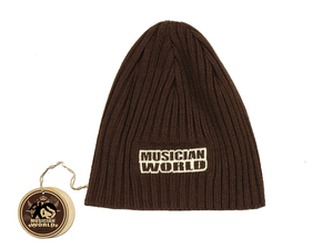 Long wool beanie - Brown 1
