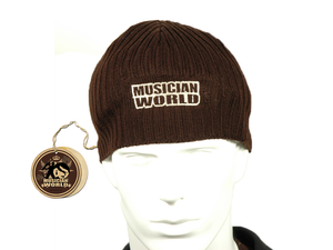 Long wool beanie - Brown 2