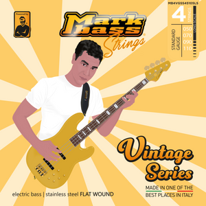 VINTAGE Series - Electric bass stainless steel FLAT WOUND