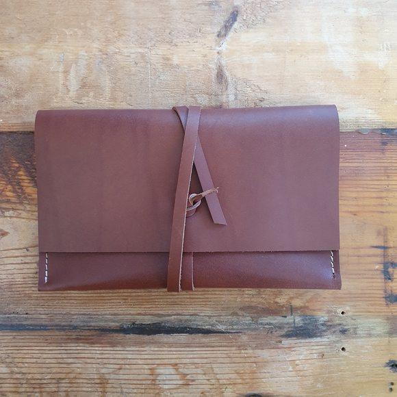 Leather Clutch || wrap style