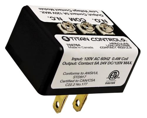 TITAN Titan Controls Hercules Low Voltage Contact Module (6/Cs)
