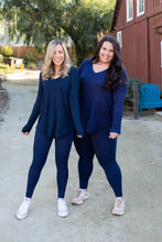 Load image into Gallery viewer, Everyday Long Sleeve Tee in Midnight Navy - Onyx & Oak Boutique