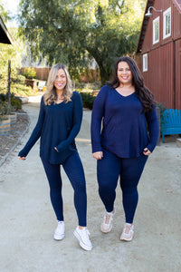Everyday Long Sleeve Tee in Midnight Navy - Onyx & Oak Boutique