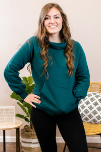 Maddox Side Hoodie in Green - Onyx & Oak Boutique