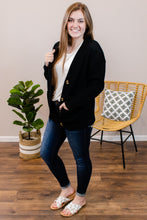 Load image into Gallery viewer, Hailey Black Button Cardigan - Onyx & Oak Boutique
