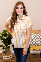 Load image into Gallery viewer, A Little Sunshine Striped Top - Onyx & Oak Boutique
