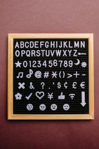 Let Lettering Lift Your Spirits Felt Board Set - Onyx & Oak Boutique