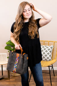 Lotus Bag in Charcoal (set) - Onyx & Oak Boutique