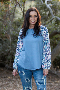 Delightfully Spotted Raglan Top - Onyx & Oak Boutique