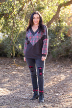 Load image into Gallery viewer, Cashmere & Chevron Sweater - Onyx & Oak Boutique