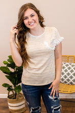Load image into Gallery viewer, Alaina Striped Lace Top - Onyx & Oak Boutique
