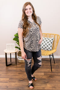 Beautiful Adventures Animal Print Top