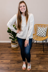 Stand Your Ground White Sweater - Onyx & Oak Boutique