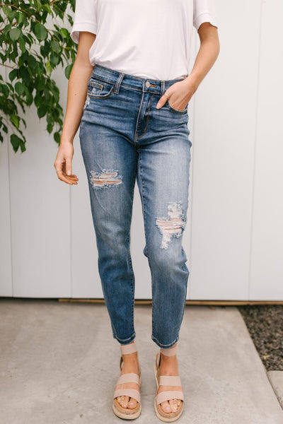 Best of Both Worlds Cropped Judy Blue Jeans - Onyx & Oak Boutique