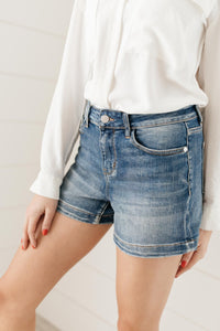 Judy Blue Denim Shorts - Chloe Wash - Onyx & Oak Boutique