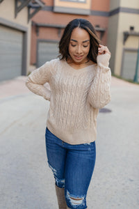 Cozy Cropped Sweater in Oatmeal - Onyx & Oak Boutique