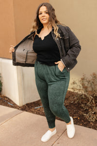 Cozy Joggers in Hunter Green - Onyx & Oak Boutique