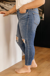Destructive and Destroyed Medium Wash Jeans - Onyx & Oak Boutique