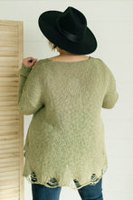 Load image into Gallery viewer, Distressed and Proud Sweater in Moss - Onyx & Oak Boutique