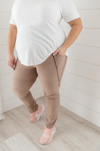 Dressin' Casual Leggings in Taupe - Onyx & Oak Boutique