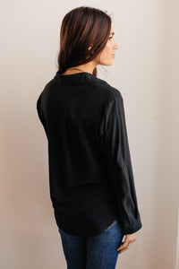 Every Girl's Go To Black Button Down - Onyx & Oak Boutique