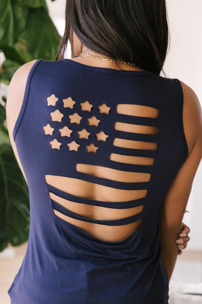 Flash of Freedom Tank - Onyx & Oak Boutique