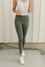 Load image into Gallery viewer, Kickin' It Leggings in Grey Sage - Onyx & Oak Boutique