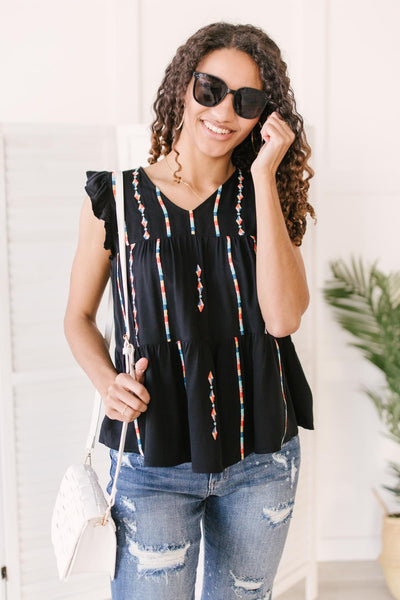 Layered With Color Blouse - Onyx & Oak Boutique