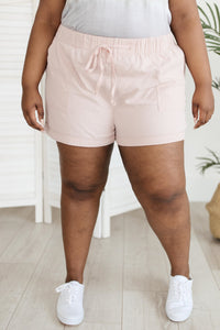 Lightweight and Linen Shorts in Baby Pink - Onyx & Oak Boutique
