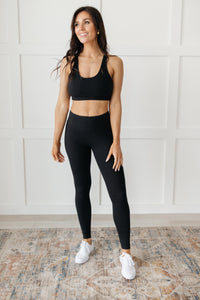 Lazy Days Racerback Bra in Black - Onyx & Oak Boutique