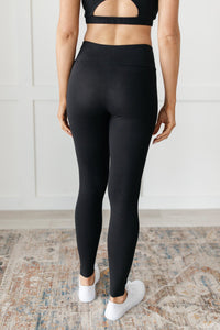 Lucy Lounging Leggings in Black - Onyx & Oak Boutique