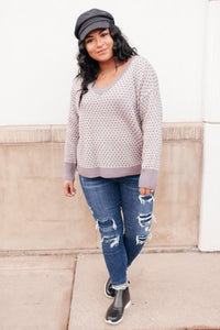Norah V-Neck Sweater - Onyx & Oak Boutique