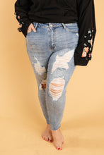 Load image into Gallery viewer, Old Is New Distressed Jeans - Onyx & Oak Boutique
