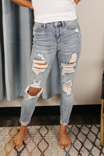Old Is New Distressed Jeans - Onyx & Oak Boutique