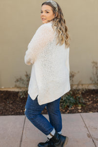 Popcorn And A Movie Sweater in Ivory - Onyx & Oak Boutique