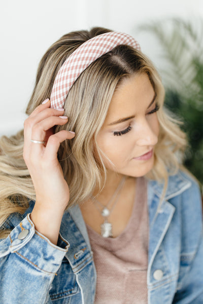Presley Plaid Headband - Onyx & Oak Boutique